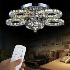 LED Deckenlampe Kristall Kronleuchter Pendelleuchte Lüster Licht Fernsteuerung