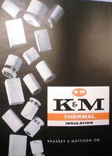 Keasbey & Mattison ASBESTOS Insulation Packing Pipe Monobestos Limpet Cement '62