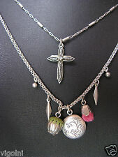 AYALA BAR NECKLACE CROSS LOCKET INDIGO SWAROVSKI CRYSTALS BEADS GIFT Graduation