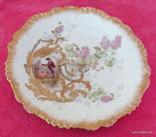 """Laviolette Limoges 8 1/2"""" PLATE Hand Painted Exc imported by LS&S"""