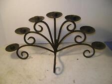 Elegant Black Wrought Iron Candlelabra Holds 7 Tapered Candles