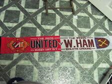 The Reds United Busby Way O/T-The Irons W.Ham Boleyn Ground Scarf