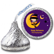 Dress Up Witch Costume - Personalized Hershey Kiss Halloween Stickers108 labels