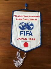 Original Japan 1979 Soccer World Championship Official competition pennant