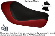 BLACK & DARK RED CUSTOM FITS HARLEY SPORTSTER LOW IRON 883 SOLO SEAT COVER