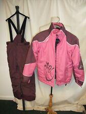 Girls Ski Suit Decathlon size 146/158, age 12 pink/purple jacket & trousers 7743