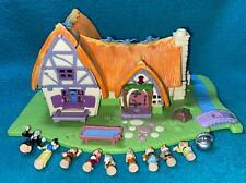 Disney Polly Pocket Snow White and Seven Dwarfs COMPLETE  Cottage dolls cauldron