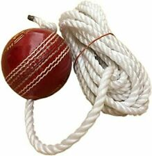 New listing SUNLEY Hanging Leather Practice Cricket Ball With Rope Red