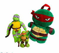 Teenage Mutant Ninja Turtles Lot Donatello Plush Michelangelo Figure Raphael BP