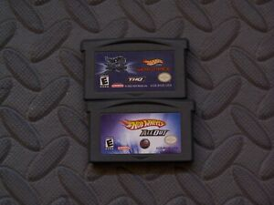 Lot Nintendo Game Boy Advance GBA Games Hot Wheels Titles 4