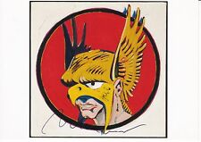"Mel Ramos (1935) ORIGINALE SIGN. PHOTO CARD ""Hawkman, 1962""/Autograph"