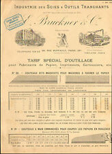 PARIS CATALOGUE BRUCKNER SCIES OUTILS TRANCHANTS 1901