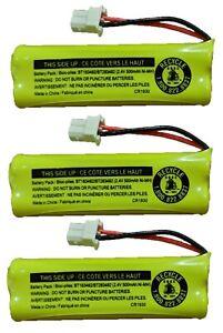 Vtech Battery BT183482 BT283482 89134801 CPH518J CS6114 DS6421 LS6425 (3-Pack)