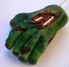 LARGE edible 3D ZOMBIE HAND dead CAKE DECORATION TOPPER halloween WALKING grave