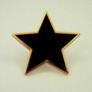 Plain Black Star pin badge