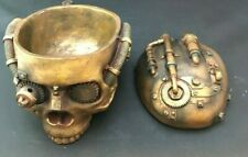 Design Toscano Rectangular Steampunk Skull Containment Vessel