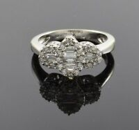 Halo Diamond Engagement Ring with .56 ctw  VS2 E in 14k White Gold - Size 5.75