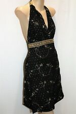 PURE HYPE Brand Black Cotton Embroidered Halter Dress Size S BNWT #TI35