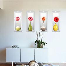 3D Vase Removable Flower Tree Art Vinyl wall sticker Home Decor Decals New