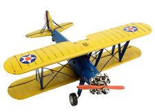 36CM Handmade Antique 1941 BOEING PT-17 COACH Plane Tin Metal Reproduction Model