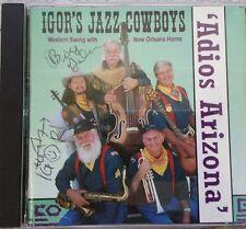 IGOR'S JAZZ COWBOYS - ADIOS ARIZONA - RARE HTF MINT - 22 TRACK ALBUM AUTOGRAPHED