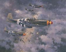 P-51B Mustang Bud Anderson Aviation Plane Painting Art Print Michael Turner