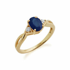 Heating Sapphire Yellow Gold Fine Rings