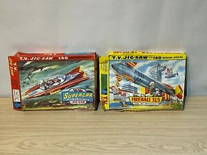 2 x Incomplete 1960s Gerry Anderson Jigsaw Puzzles Fireball XL5 + Supercar
