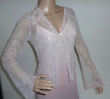 POMODORO pale pink women's evening vest and sequined cover set UK 12