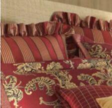 Rose Tree SAVOY COLLECTION Red/Gold Striped Euro Sham $60
