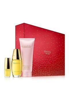 Estee Lauder Beautiful 1.oz Perfume,3.4 oz Body Lotion and Mini Purse Set