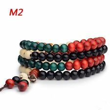 Lobular Rosewood Bead Variety Style Rosary Beaded Hand Strings Bangle Bracelet