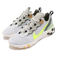 Nike React Element 55 Spruce Aura Fog Cargo Volt Men Shoes Sneakers BQ6166-009