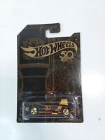 "HOT WHEELS 50th ANNIVERSARY GOLD AND BLACK COLLECTION 3/6 ""RODGER DODGER"" MATTEL"