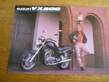 SUZUKI VX 800 MOTORBIKE BROCHURE,  1992  POST FREE (UK)