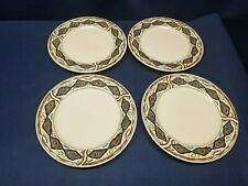 "1998 Majesticware Stoneware ""CANYON"" By Sakura Dessert Plates Set of 4"
