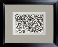 Jean Dubuffet LITHOGRAPH Double ~ Limited EDITION -  Vacuum Forms w/Frame