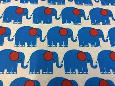 BUNGLE JUNGLE #39502-15 BLUE ELEPHANTS  FOR TIM & BECK FOR MODA- BY THE YARD