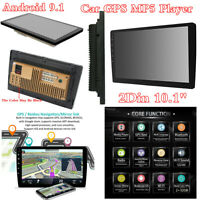 """Android 9.1 2Din 10.1"""" BT Car Stereo Radio MP5 Player GPS Wifi Audio USB DAB DTV"""