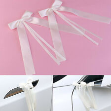 50pcs Personalised Wedding Car Ribbon Kit Beige Ribbon Handmade Bow  Deco Gift