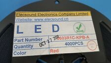 LED, RED, SMD, Elecsound, 0603R1C-KPB-A, 620-635nm, ONE REEL OF 4000 PCS