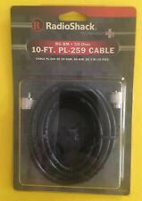 Radio Shack Rg-8m 50-ohm 10-ft. Pl-259 Ham, Cb, Shortwave, Scanner Cable 278-979