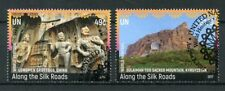 United Nations Nations Unies New York 2017 CTO UNESCO le long de route de la soie 2 V set tourisme timbres