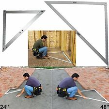 "LARGE 24"" - JUMBO 48"" PROFESSIONAL BUILDERS FOLDING SQUARE Ruler Right Angle"