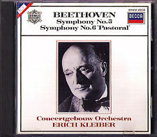 Erich KLEIBER: BEETHOVEN Symphony No.5 & 6 Pastorale DECCA CD Concertgebouw 1952