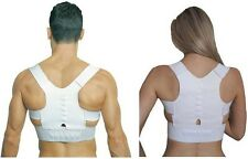 Therapy Magnetic Posture Support Corrector Body Back Pain White Belt Shoulder M