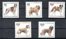 Germany RFA Fédéral Mi 1836-1840 Jeunesse 1996 Races de Chiens chiens chiens