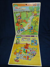 Lot of 2 Sesame Street Puzzles FALL & LITTLE BIG BIRD'S PLAYTIME 1991