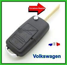 Coque Télécommande Plip 3 Bouton Clé Vw Volkswagen Touareg Sharan + Lame vierge