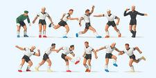 Preiser 10758 Échelle H0 Figurines, Équipe de Football, Blanc Maillots #